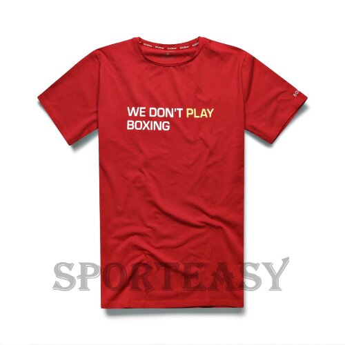 BOXRAW Футболка We Don't Play Boxing Red