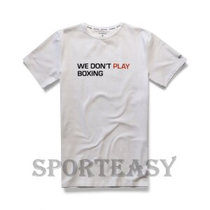 BOXRAW Футболка We Don't Play Boxing White