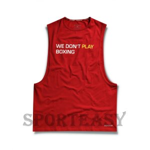 BOXRAW Майка We Don't Play Boxing Red