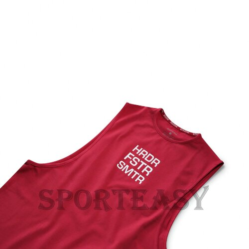 BOXRAW Майка Muscle HRDR FSTR SMTR Red